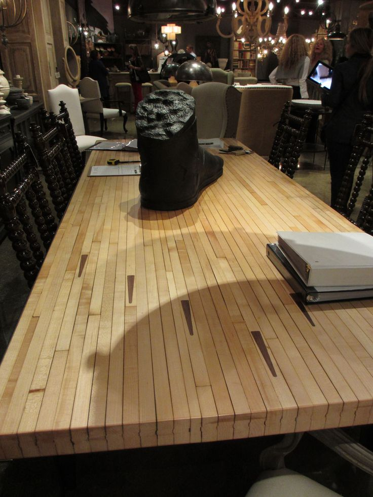 Bowling alley floor table top. @Noir #hpmkt | High Point ...
