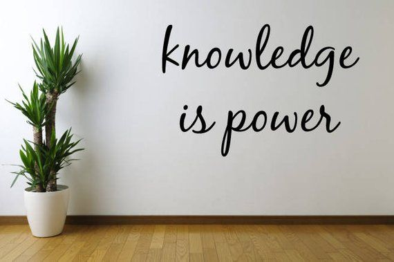 Knowledge Is Power Decal Sticker Vinyl