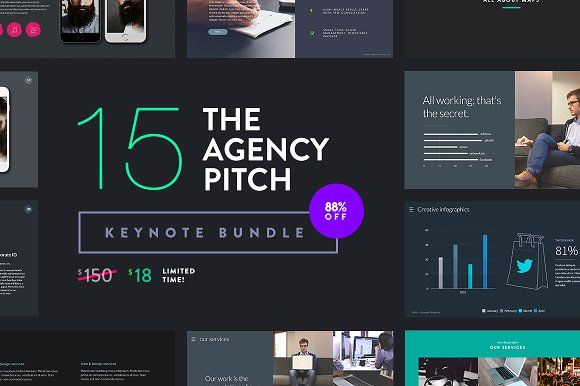 The Agency Pitch | Keynote Bundle by Slidehack on @creativemarket