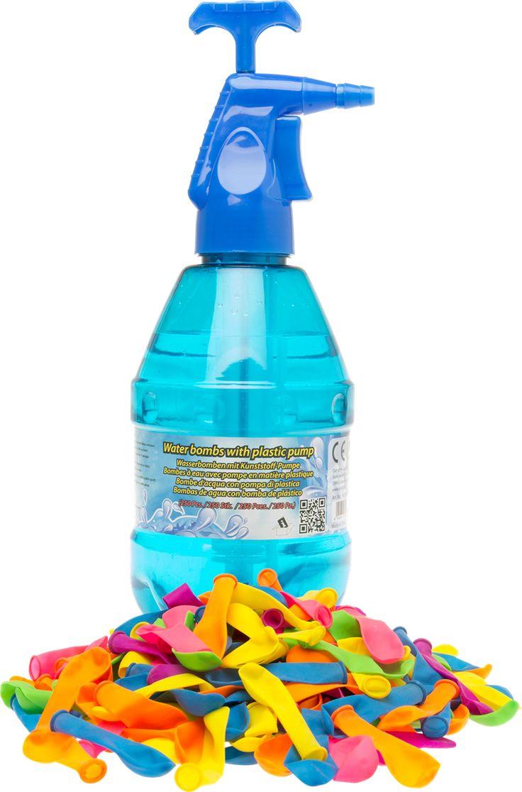 Vannballonger med vannpumpe 250-pack: 250 vannballonger med hånddreven pumpe - Teknikmagasinet.no