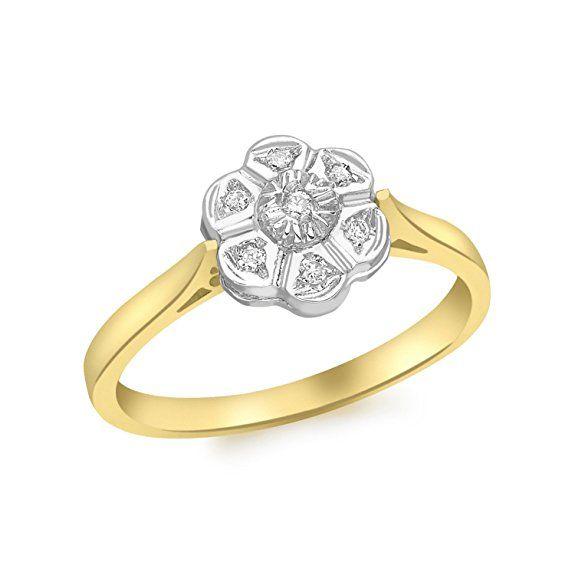 Diamantring gold  Die besten 10+ Blume diamant ringe Ideen auf Pinterest   Gold ...