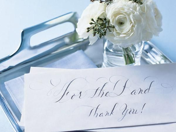 Wedding Vendors Tipping Cheat Sheet - Good to know :)