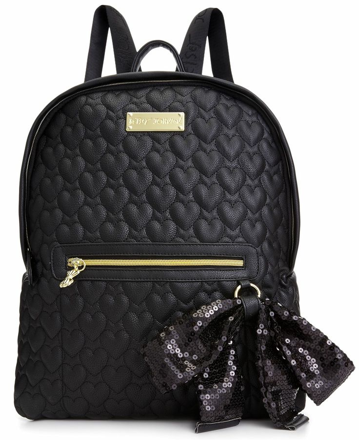 Betsey Johnson Handbag, Quilted Love Backpack - Handbags