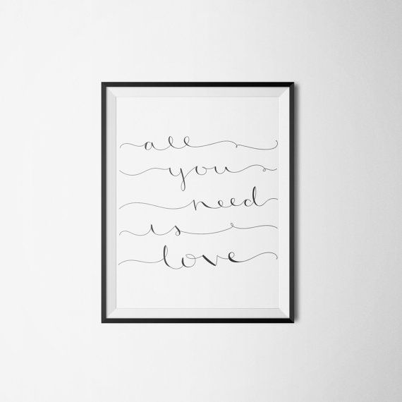 All You Need is Love PDF INSTANT DOWNLOAD by LittleInklingsDesign