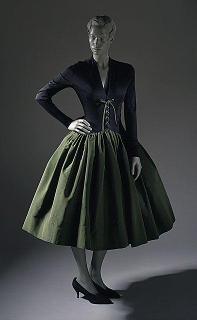 Norman Norell dress ca. 1958 via The Costume Institute of the Metropolitan Museum of Art