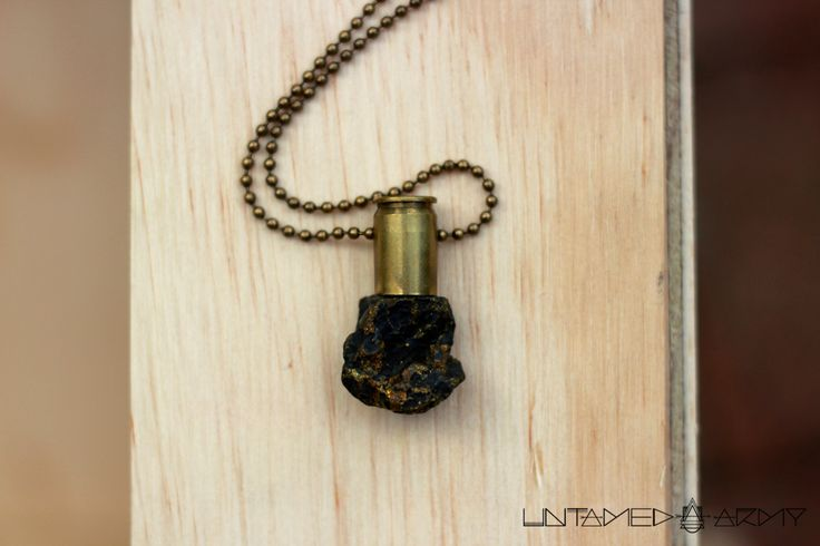 Raw Crystal Bullet Pendants by Untamed Army. Handmade in South Africa.
