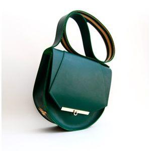Loel Saddle bag in Hunter Green | Architect's Fashion