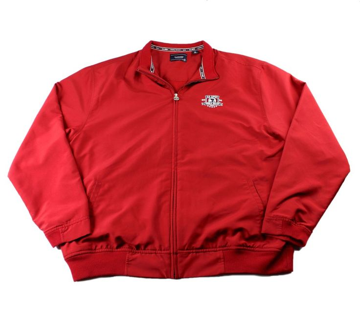 2010 U.S. OPEN Pebble Beach Marshall Golf Jacket in Red Mens Size XL