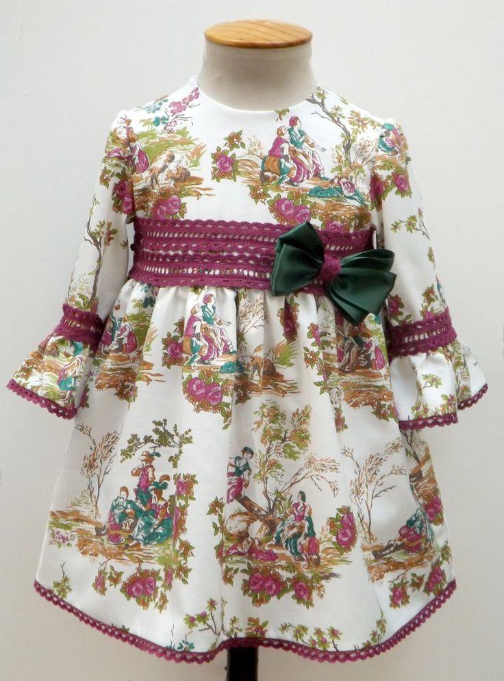 Vestido para bebe niña buganvilla