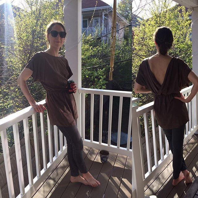 A new make for #sewmystyle April. The #bridgetownbackless was the second pattern I made when I started sewing two years ago. Revisiting the pattern showed me how much progress I've made. The fabric is a rayon challis that I dyed using Cutch + iron water, and I took a few inches off the tunic length so that I can reach my pockets easier. #sewhouse7 @sewhouse7 #sewcialists @maiwahandprints #imademyclothes #sewistsofinstagram