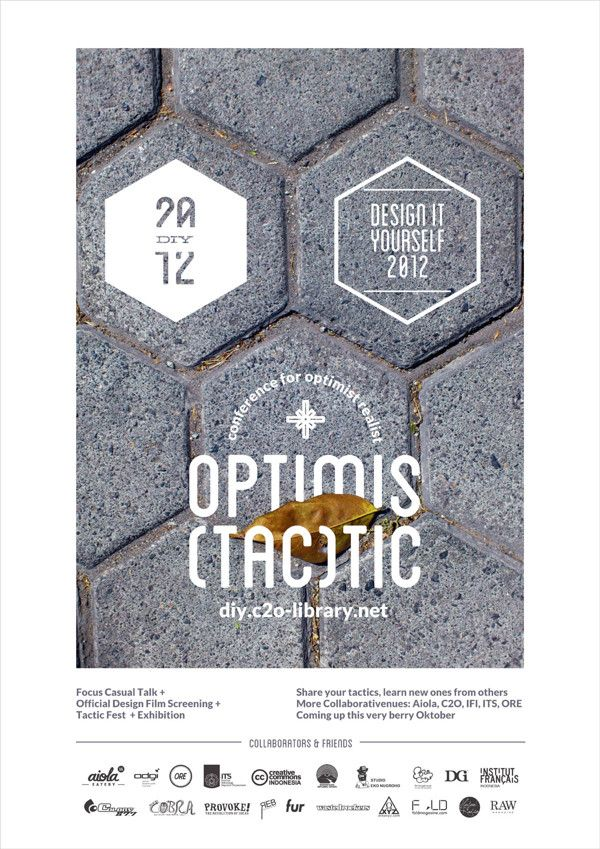 DIY: OPTIMISTACTIC by butawarna, via Behance