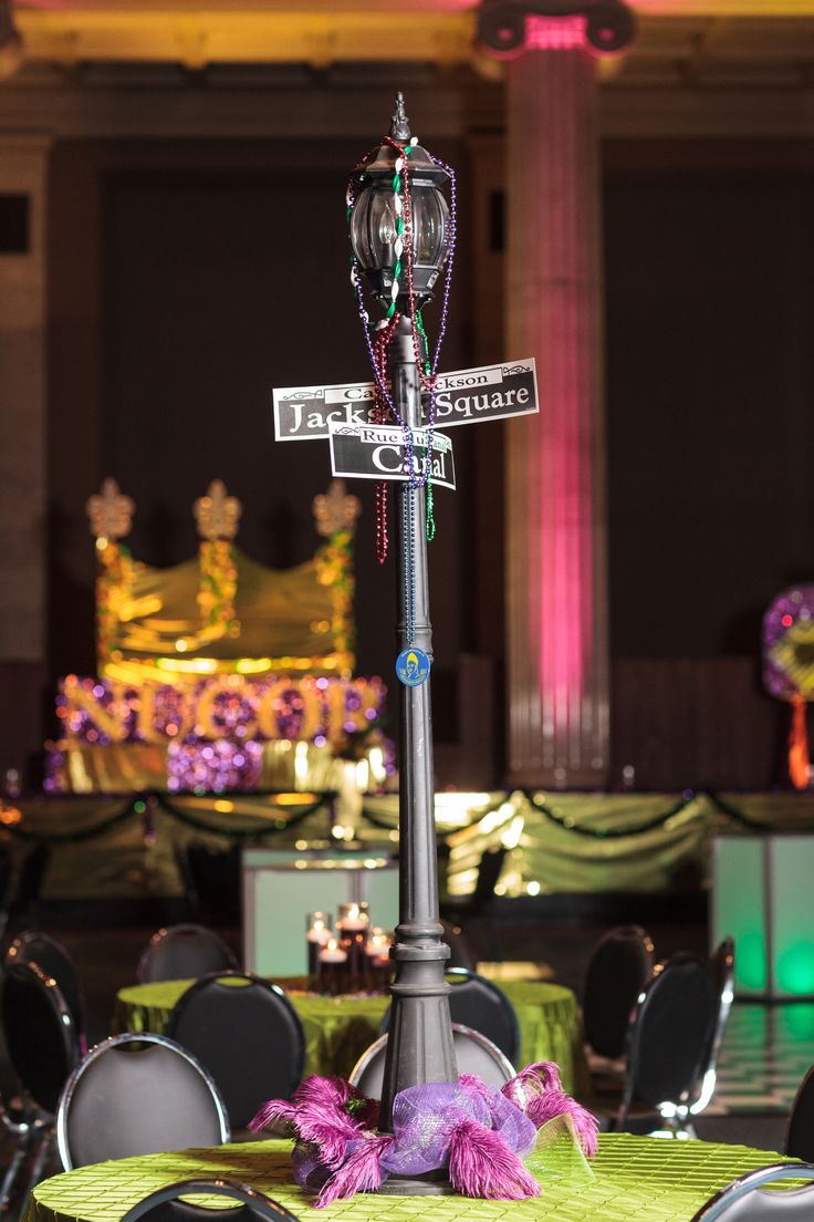 Mardi Gras Themed Party   Decor by Southern Event Planners
