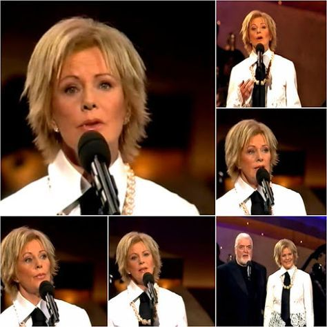 """On the 16th December 2004 Frida and Jon Lord appeared on German TV as part of a charity gala where they performed their single """"The Sun Will... #Abba #Frida http://abbafansblog.blogspot.co.uk/2016/12/abba-date-16th-december-2004.html"""