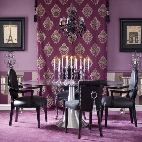 Dining Room | Purple/Black