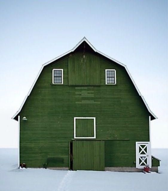 Grüne Scheune / Green Barn + Winter