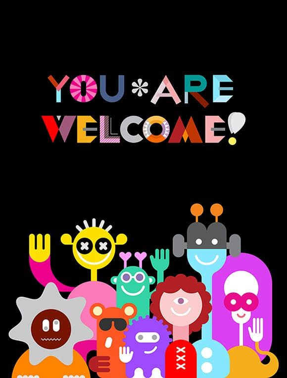 Large Group of Funny Aliens Vector Illustration AI, EPS