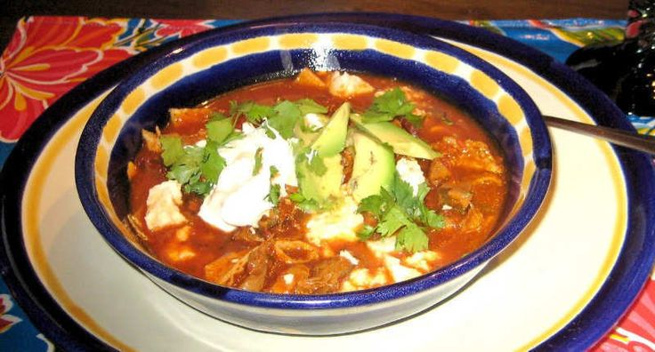 Sopa de Tortilla a la Mexicana - This hearty chicken soup with a Mexican flavour is loaded with chicken, carrots, potatoes, tomatoes, and zucchini. To save time, use cooked rotisserie chicken from the market or your own leftover chicken.   - http://aussietaste.recipes/soup-2/sopa-de-tortilla-a-la-mexicana/  -   #recipe