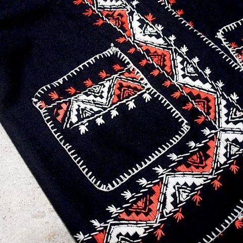 coug styling #古着屋カーグのブログ: 手刺繍ウールパーカー
