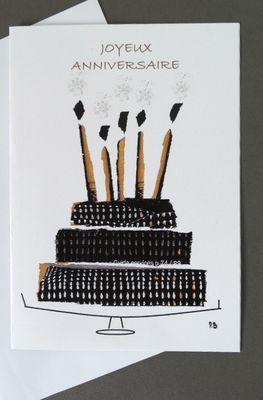 N'attendez plus et faites le bonheur de vos proches en leur adressant un message sur cette jolie carte d'anniversaire.