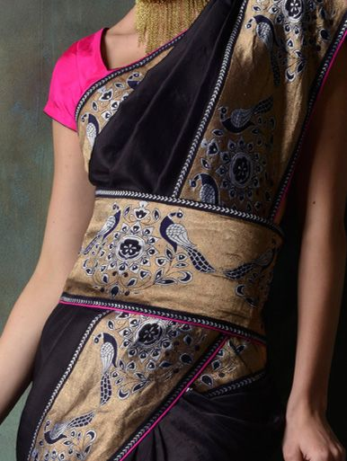 silk saree with a rich weaved border