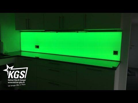 LED Küchenrückwand aus Glas - KGS Küchenrückwand Pinterest - küchenspiegel selber machen