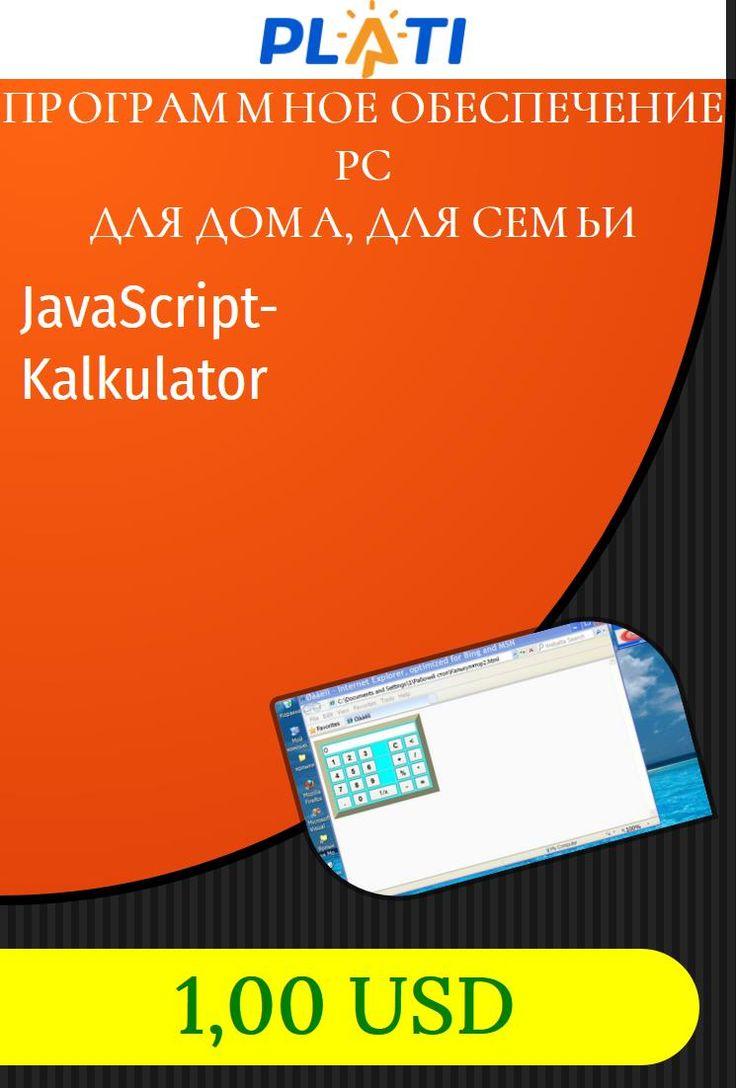 JavaScript-Kalkulator Программное обеспечение PC Для дома, для семьи