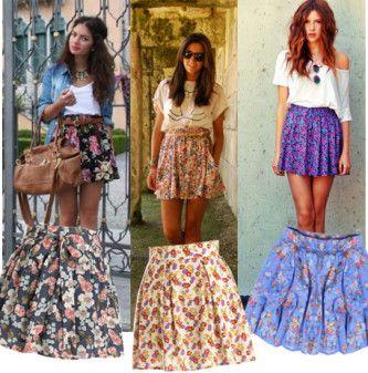 Modelos de saias : Capulana, floridas, justas, de festa e mais
