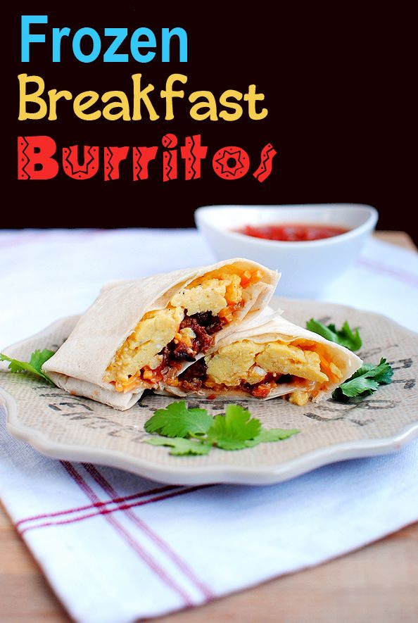 Frozen Breakfast Burrito #breakfast #freezerfriendly #recipe @Iowa Girl Eats | http://iowagirleats.com/2012/03/27/diy-frozen-breakfast-burritos/