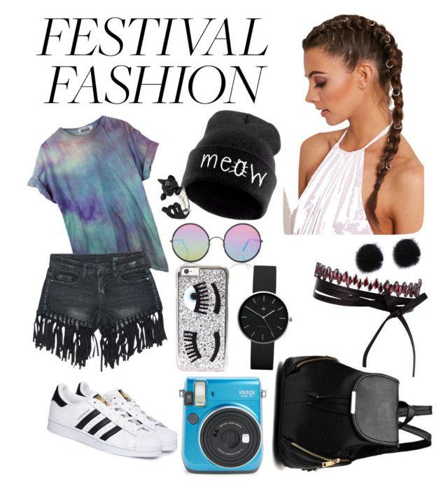 """Festival for DAYS✌️"" by bianca-lee-jardim on Polyvore featuring Sans Souci, Sunday Somewhere, Chiara Ferragni, adidas, Fallon and Newgate"