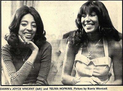ARTICLE & B/W PICTURE DAWN'S JOYCE VINCENT & TELMA HOPKINS 5X7  | eBay