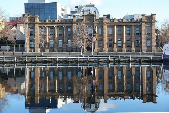 A double-take of some beautiful architecture in Tasmania. Photo courtesy of Dr. Kathryn Starkey and Molly Evans.