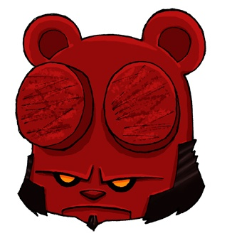 Angry Teddy Bear meets Hellboy by ~angry-teddy-bear on deviantART