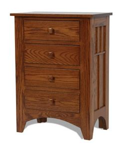 Amish Craftsman Mission Four-Drawer Night Stand