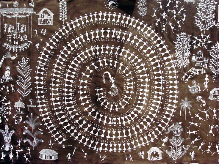the tribal (warli, malharkoli, kokani, katkari) of thane district in maharashtra make warli paintings