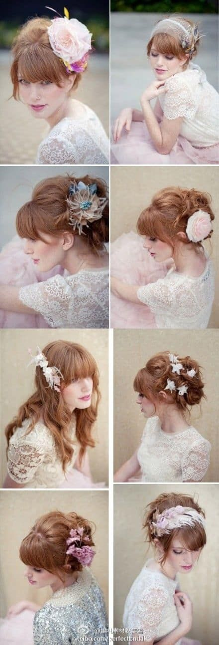 wedding hairstyles with bangs best photos - wedding hairstyles - cuteweddingideas.com