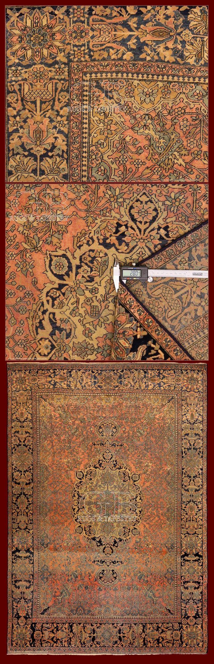 KASHAN MOHTASHAM RUG 190 x 130 | 140524168689 | GB Rugs
