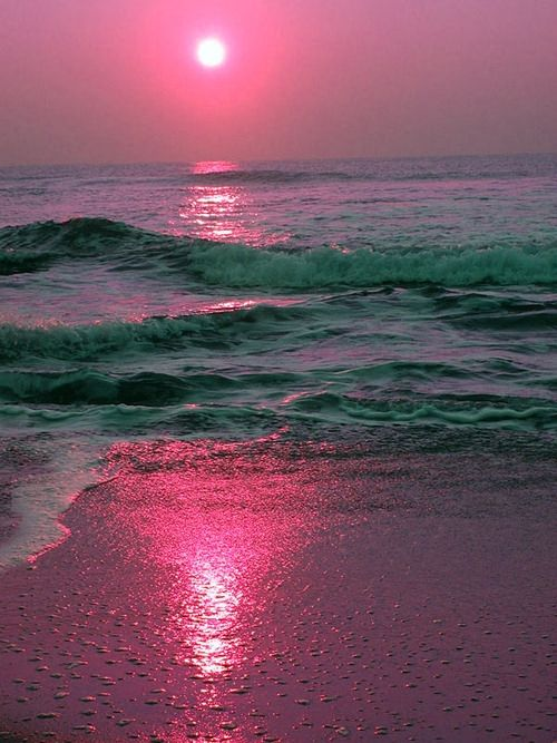 #pinksunset #beach