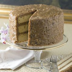 Southern Praline Cake W/ Pecan Praline Icing  --  Dessert doesn't get any better than this!  Worthy of a special occasion, but great anytime.