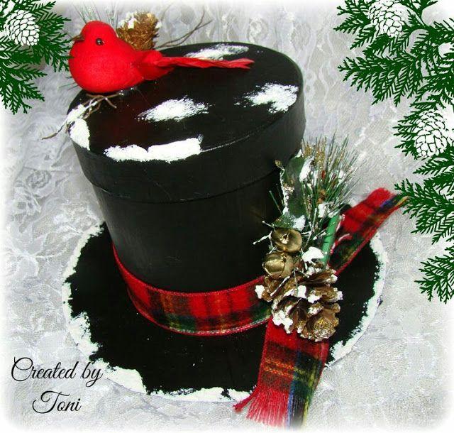 más y más manualidades: Hermosos sombreros navideños con latas