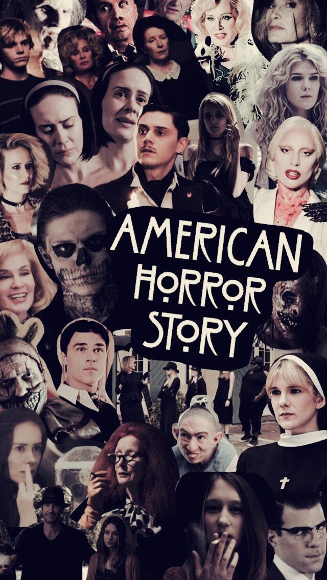 American Horror Story collage iPhone 5 Wallpaper