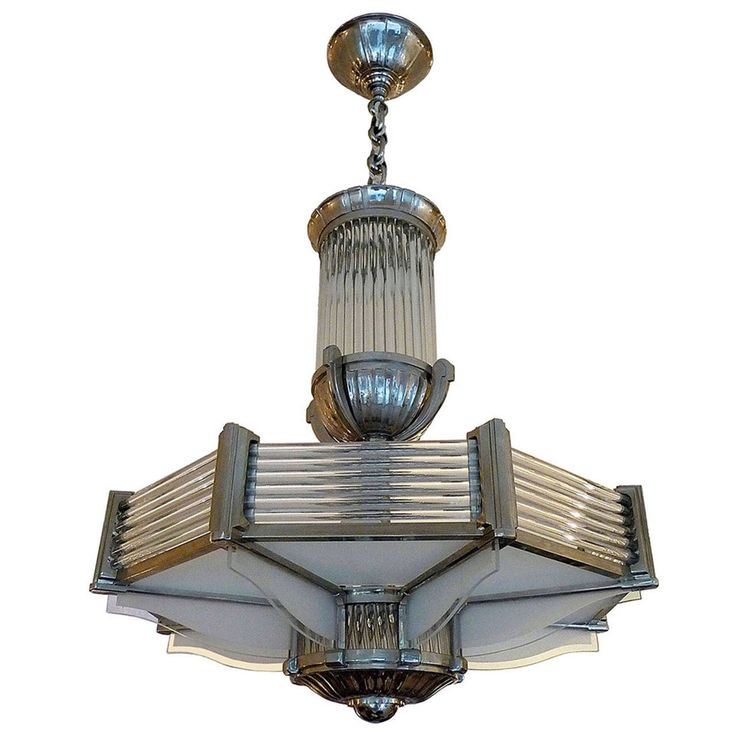 French Art Deco Petitot Chandelier | From a unique collection of antique and modern chandeliers and pendants at https://www.1stdibs.com/furniture/lighting/chandeliers-pendant-lights/
