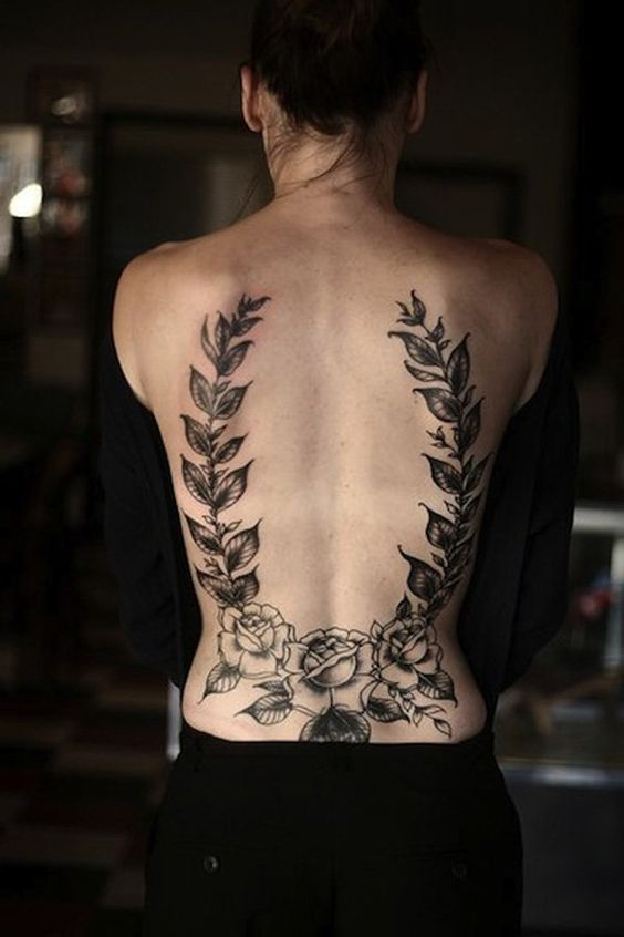 I like this V shape on the lower back, although I don't think I'd have it as large