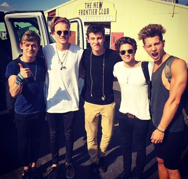 The vamps and shawn mendes... notice how austin mahone isnt in it.. the world should stay that way!!