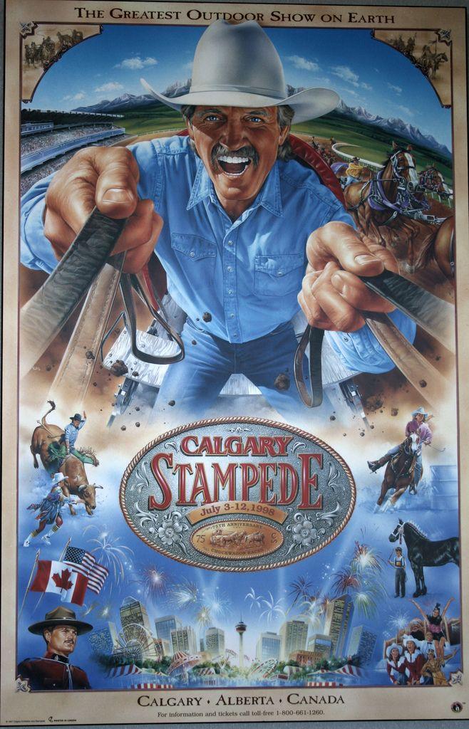 calgary stampede poster 1998