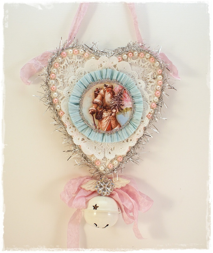 To scrap or not to scrap, that's the question.: shabby christmas ornament..