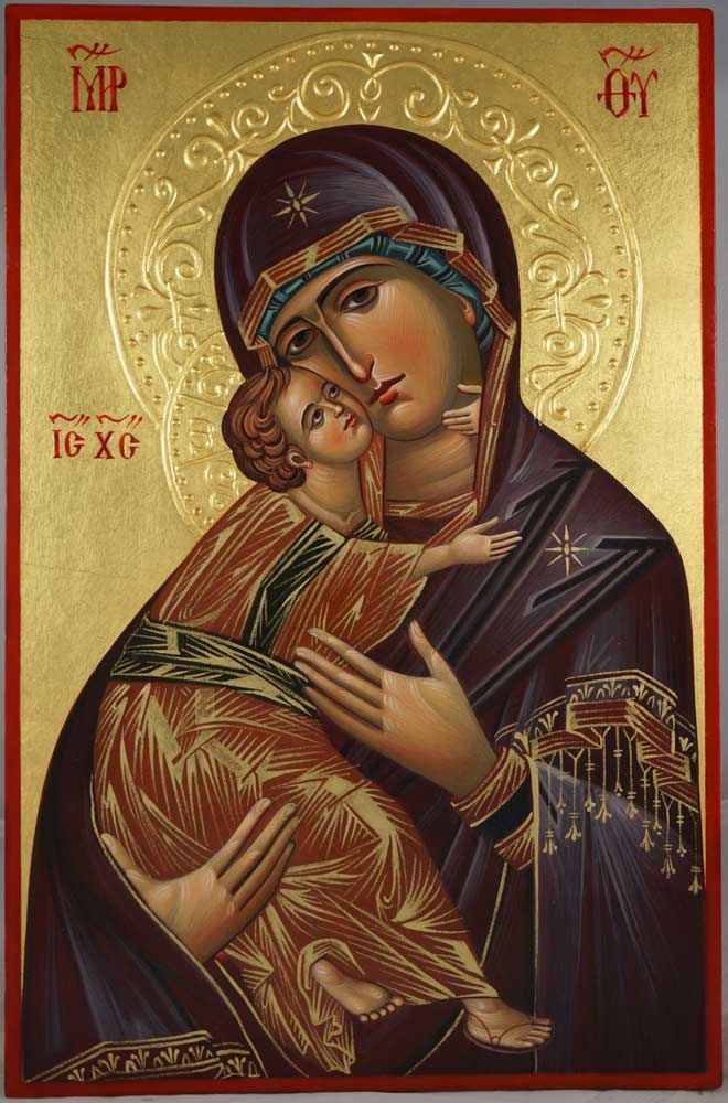 Theotokos of Vladimir (halo relief) Hand-Painted Icon