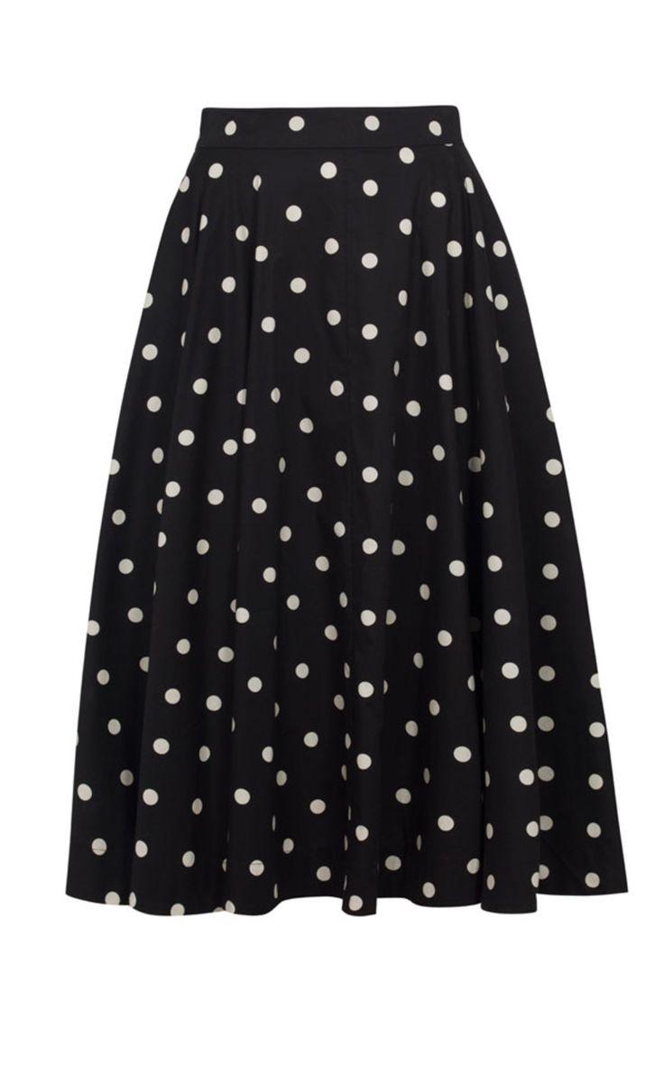 Emily and Fin - Sandy Skirt Black Polka Dot  #alittleshopnz
