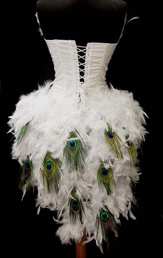 Pick blanc taille Peacock Eye plume Brocade par FantasyMasquerades