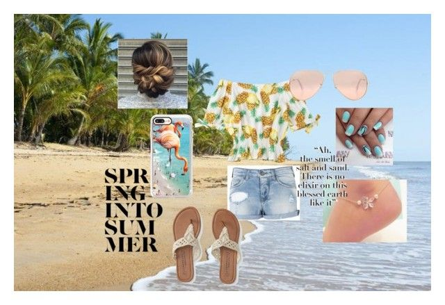 """Straight Into Summer"" by outfit-creator ❤ liked on Polyvore featuring Armani Jeans, Aéropostale, Ray-Ban and Casetify"