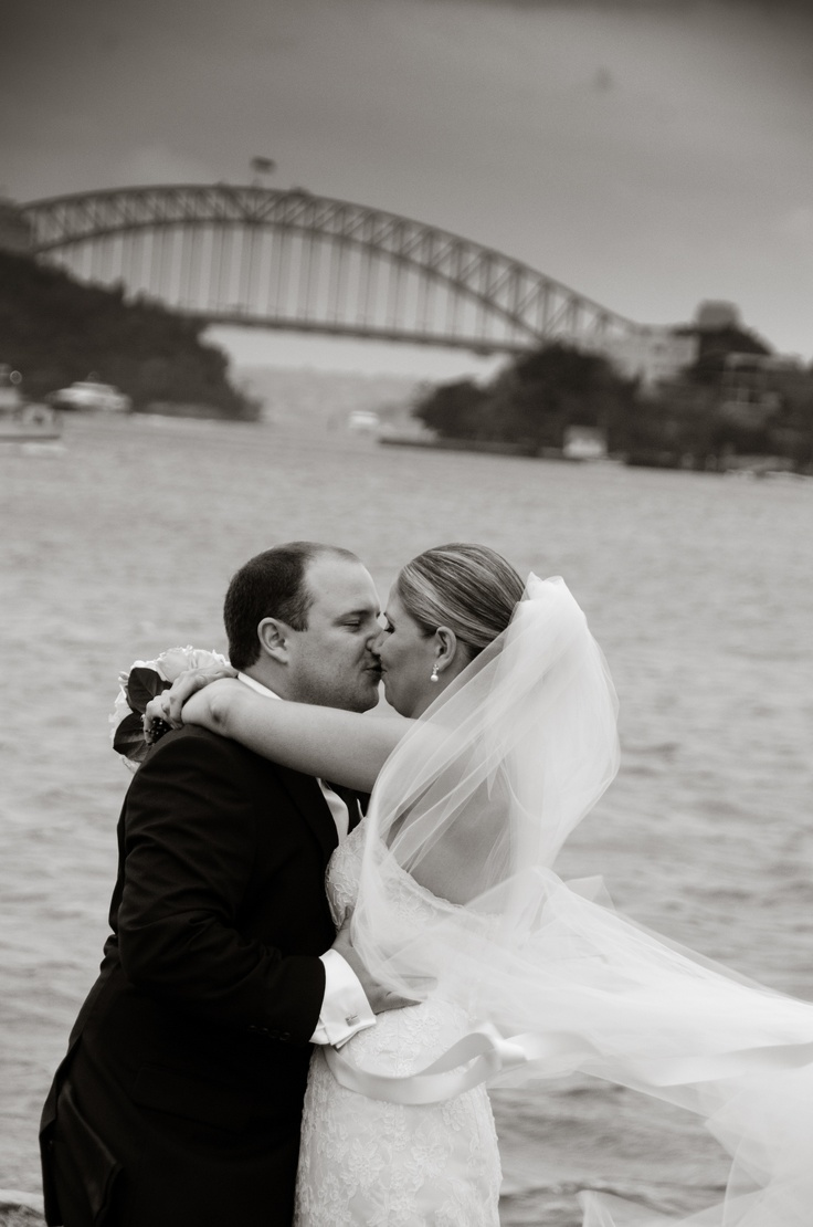 A dramatic shot with Harbour Bridge